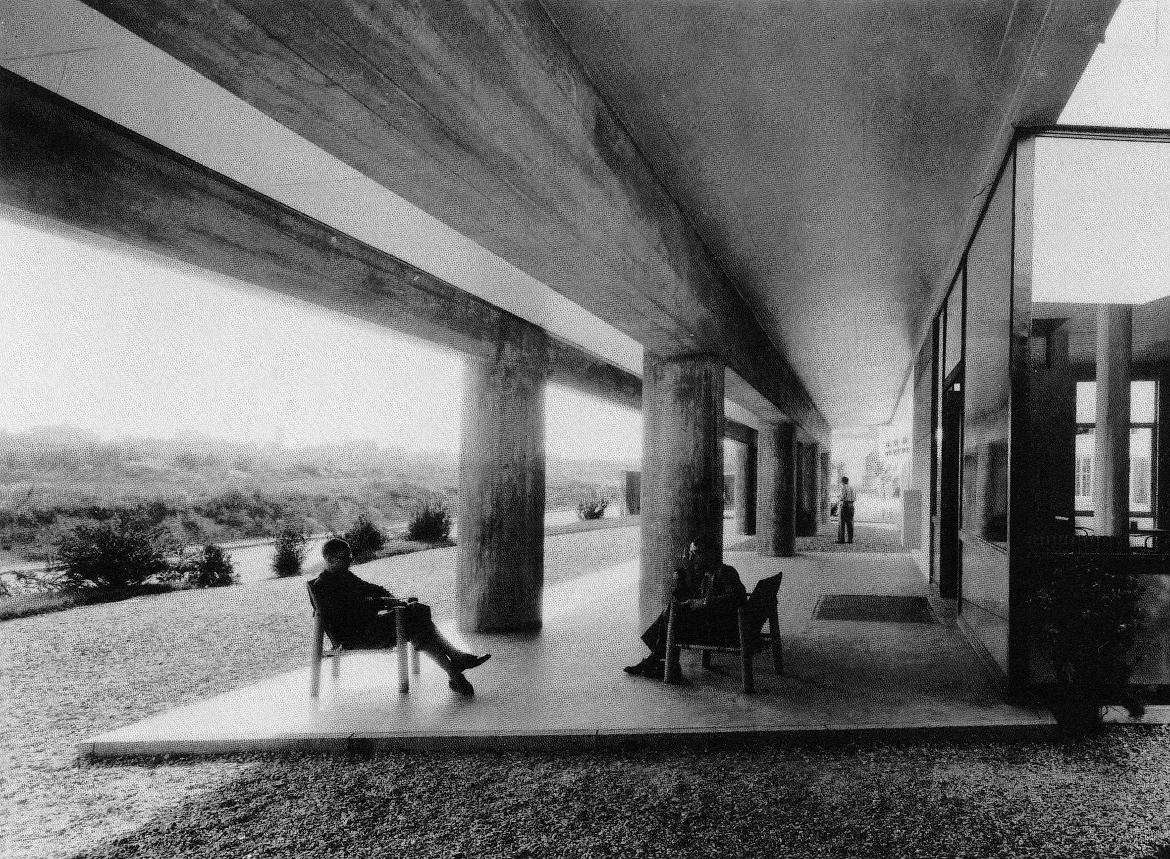 histoire du b timent fondation suisse architecte le corbusier. Black Bedroom Furniture Sets. Home Design Ideas