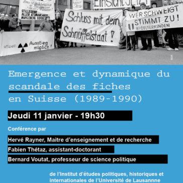Emergence et dynamique du «scandale des fiches» en Suisse (1989-1990)